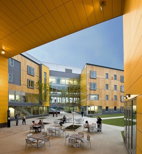 RWU north campus residence hall by perkins+will. RHODE ISLAND.
