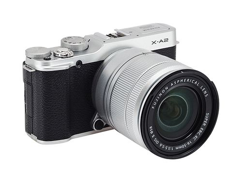 """Fujinon by FujiFilm. Originally launched as a product to meet demand fashion photography, Fujifilm X-A2 is not just mirrorless cameras with retro design features but also the ideal machine for photographic movement """"take a selfie """"LCD display with 175 degree flip. http://www.zocko.com/z/JJwkY"""