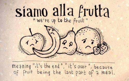 Learning Italian - Siamo alla frutta