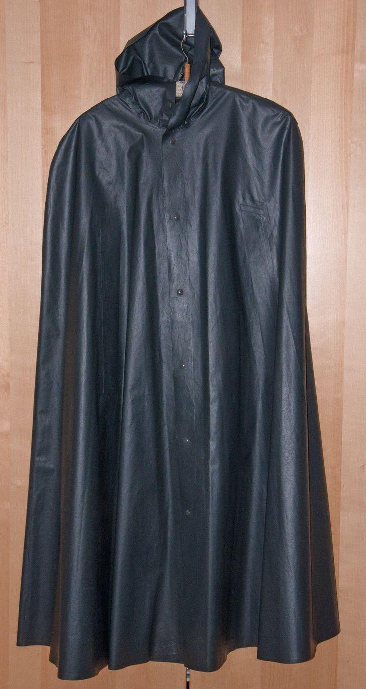 KLEPPER Regencape Cape mit Kapuze für Herren, Gummi Regenmantel, Rubber Cape in Kleidung & Accessoires, Herrenmode, Jacken & Mäntel | eBay