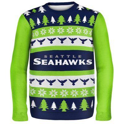 Seattle Seahawks Wordmark Ugly Sweater