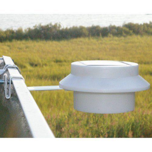 LED Solar Gutter Night Utility Security Light For Indoor Outdoor Fence Garden