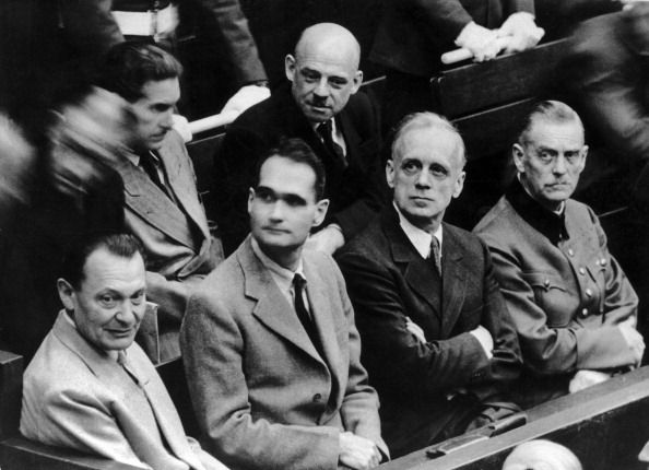 Goering, Rudolf Hess, Joachim Von Ribbentrop, General Keitel And On The 2Nd Row, Fritz Sauckel, In Charge Of Service Du Travail Obligatoire. (Photo by Keystone-France/Gamma-Keystone via Getty Images)