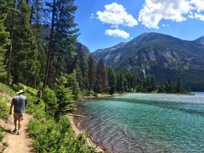 10. Hike the Holland Lake and Falls Trail.