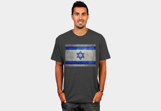 Flag of Israel vintage retro style T-Shirt - Design By Humans #Israel #Israelflag #Isrealiflag #starofdavid