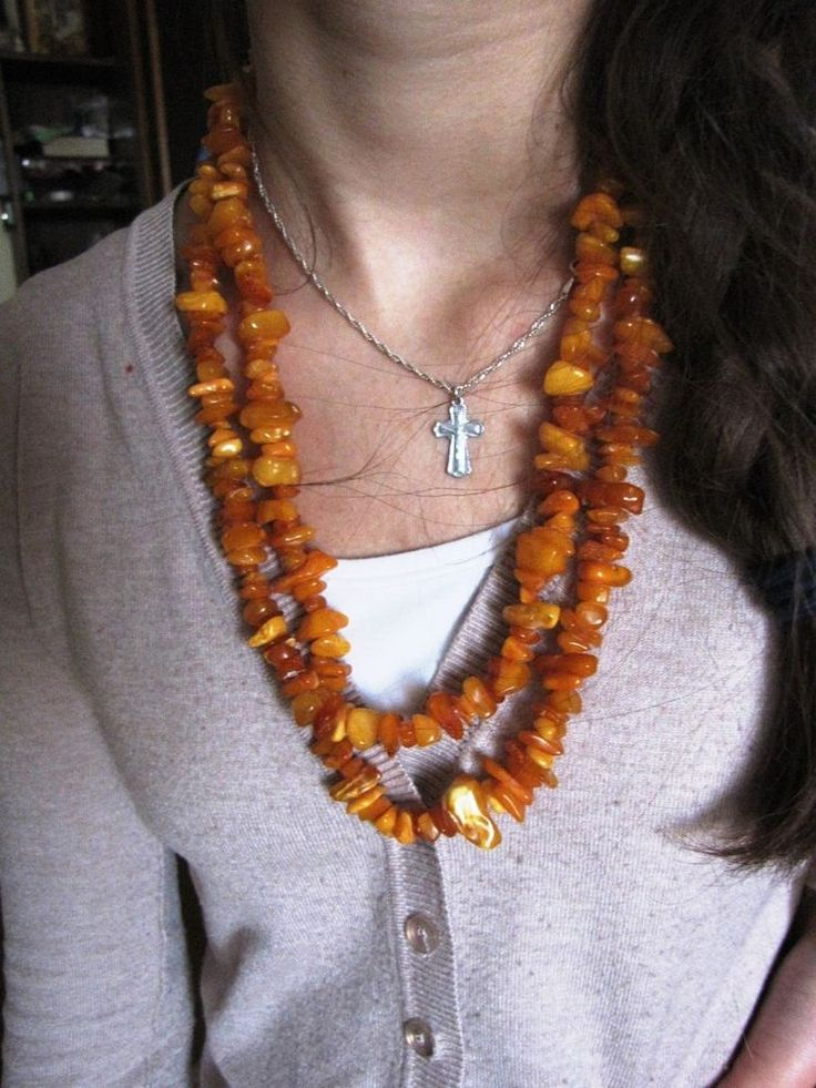 Vintage Natural Baltic Butterscotch Amber Necklace Beads, milky, yolk, honey 老琥珀
