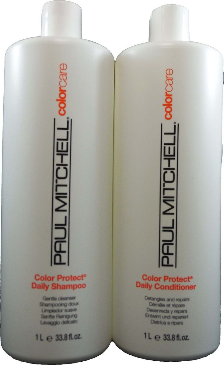 Sets and Kits: Paul Mitchell Color Protect Daily Shampoo And Conditioner Liter Duo 33.8Oz Each -> BUY IT NOW ONLY: $38.99 on eBay!