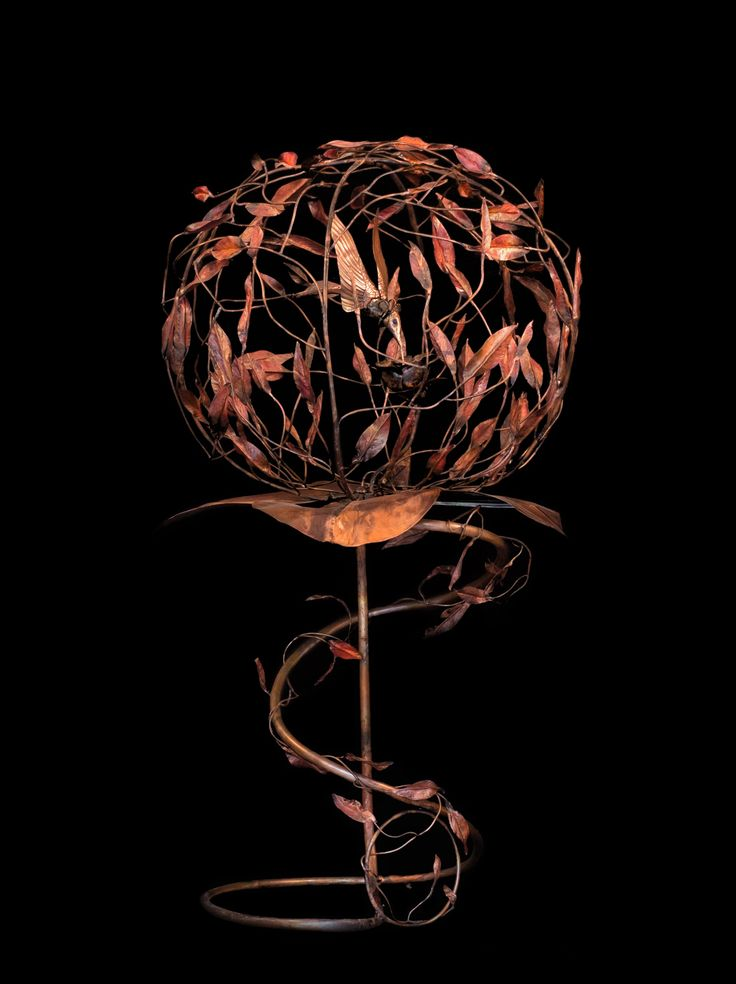Copper handmade flowers by Sapir Gelman. www.art-copper.com