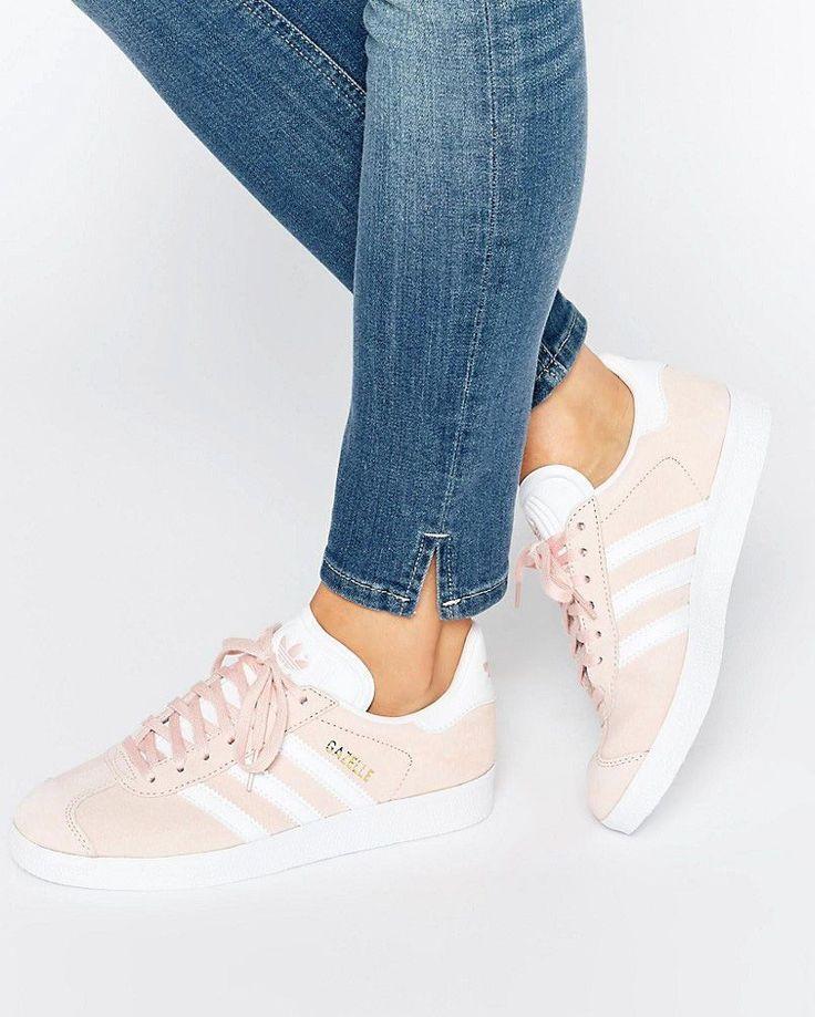 adidas pink suede gazelle sneaker