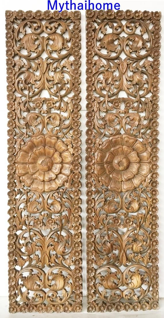 72 Pair Large Wood Wall Art Mandala Flower Wooden Sculpture