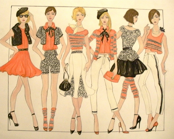 Fashion Design Portfolio by Victoria Wright, via Behance
