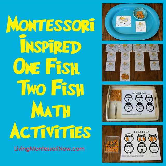 Montessori-Inspired One Fish, Two Fish Math Activities (Ideas for Dr. Seuss Math Activities Using Free Printables)