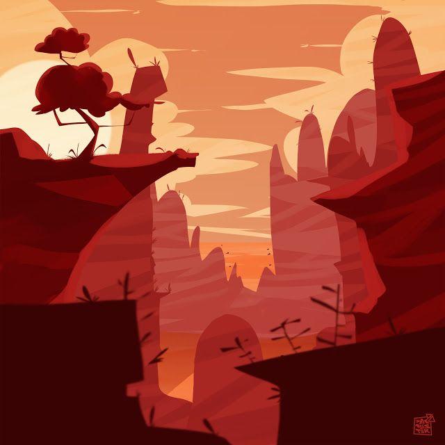 Dakalister: red landscape