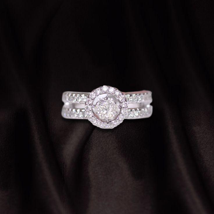 Engagement ring - diamonds   Call us now for diamond jewellery, designer jewellery, bridal and semi bridal jewellery on 0124-42000518 to walk in our showroom in Gold souk mall, Gurgaon.  #Diamonds #Diamondjewelry #bridaljewelry #designerjewellery #diamondrings #luxuryjewelry