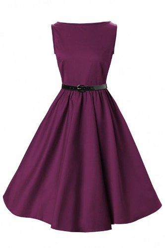 Lindy Bop Classy Vintage Audrey Hepburn Style 1950's Rockabilly Swing Evening Dress: Amazon.co.uk: Clothing