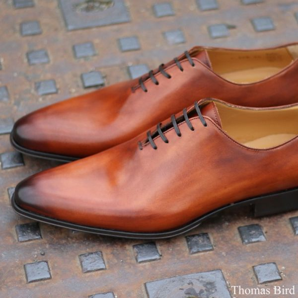 Medium Brown Wholecut Shoes | Thomas Bird