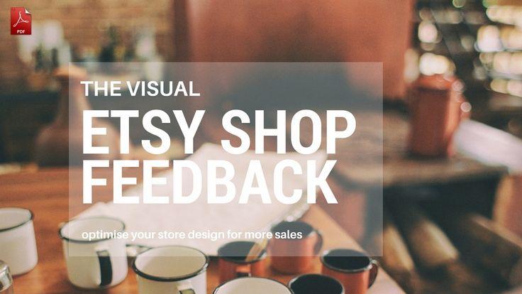 Etsy Shop Visual Critiques and Feedback
