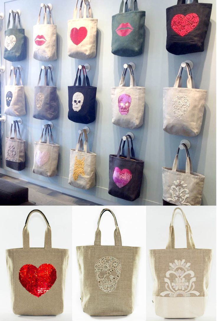 VM example of REPETITION (same bag in different variations creates a grid that catches the eye)