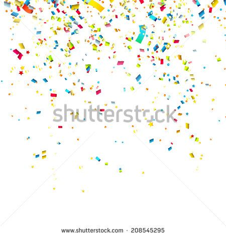Colorful confetti on white background  - stock vector