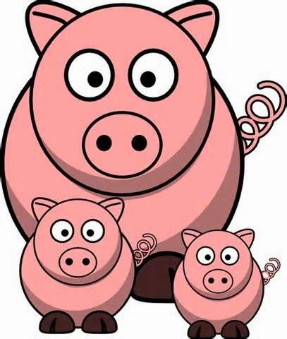 167 best pig clip art images on pinterest pigs little pigs and rh pinterest com clipart pigs at the trough clip art pig roast