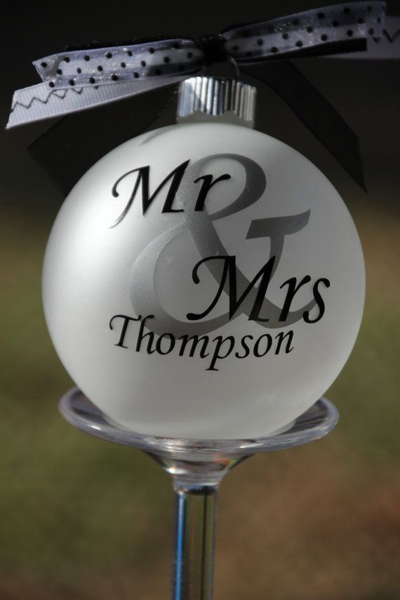 Monogram Our First Christmas Married Ornament Wedding Date ornament on Etsy, $12.00