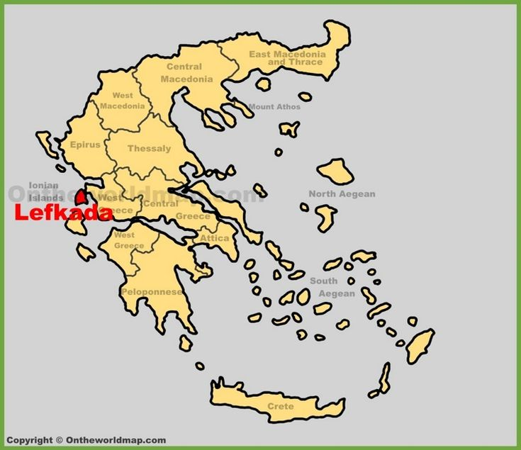 Lefkada location on the Greece map Maps Pinterest Greece islands