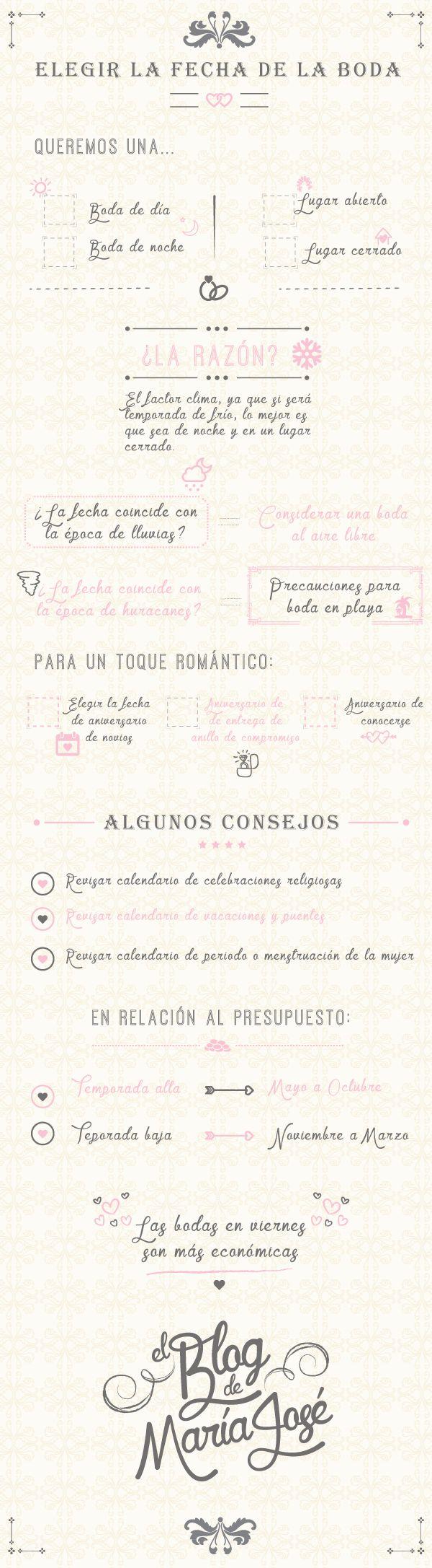 Te doy unos consejos para elegir la fecha de la boda #bodas #elblogdemaríajosé…