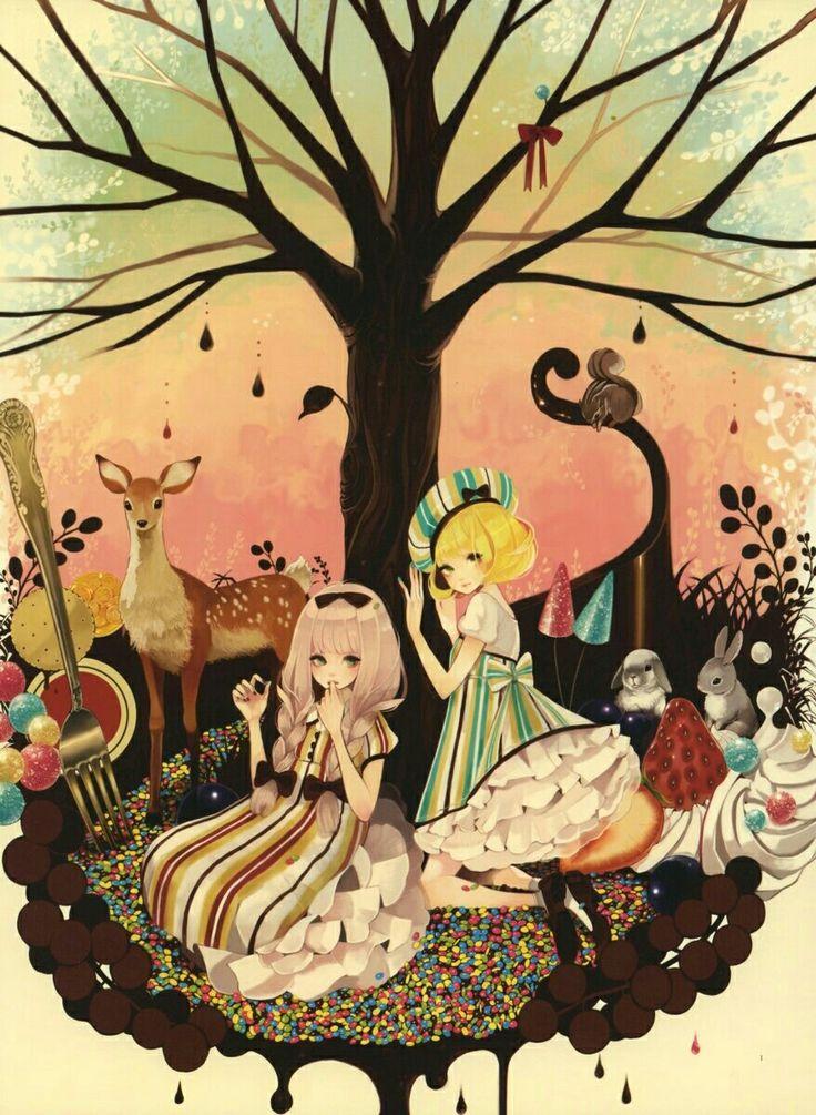 Рисунок сладкие деревья, коллеге