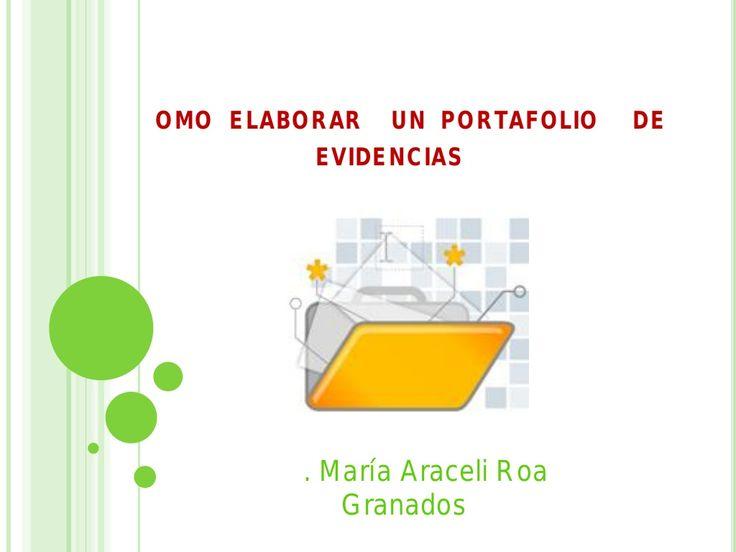 Portafolio de evidencias by Isela Guerrero Pacheco via slideshare