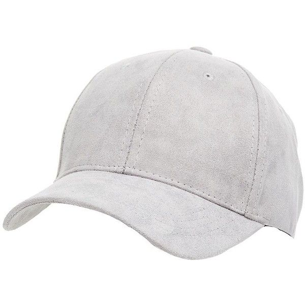 Charlotte Russe Faux Suede Baseball Hat (185 MXN) ❤ liked on Polyvore featuring accessories, hats, grey, charlotte russe hats, grey hat, grey baseball cap, baseball caps hats and charlotte russe