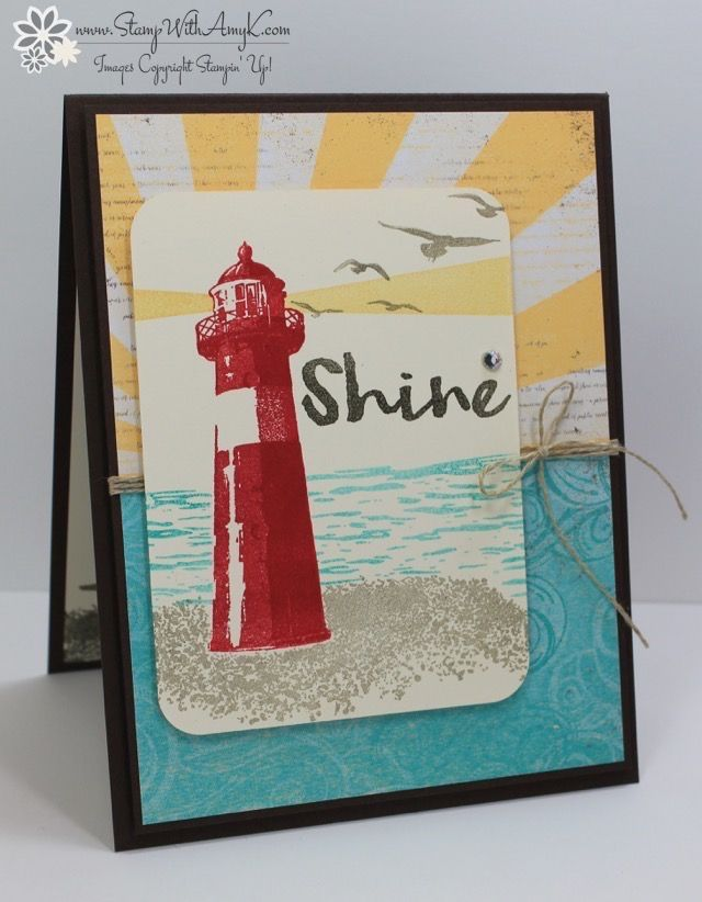 I used the Stampin' Up! High Tidestamp set from the upcoming 2017 Occasions Catalogto create mycardfor the Happy Stampers blog hop. We've got a sketchchallenge this weekand here is the card …