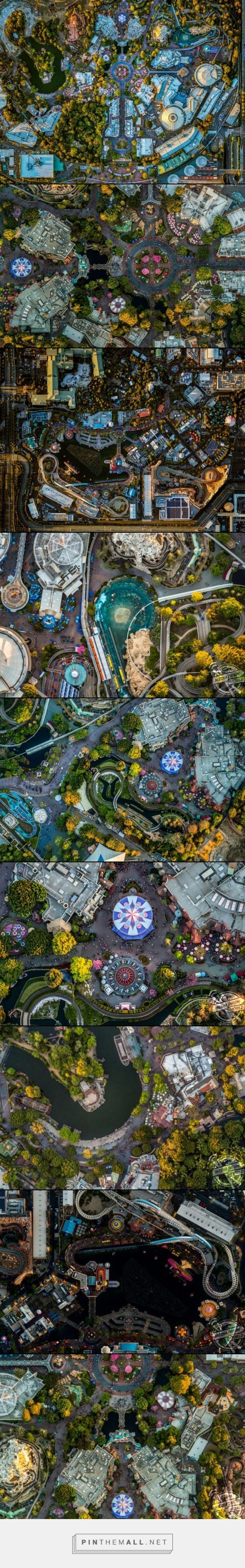 Overhead shots of Disneyland and California Adventure
