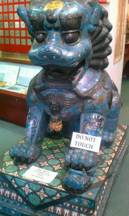 Cloisonne Lion - One of 9 pairs left in the world.