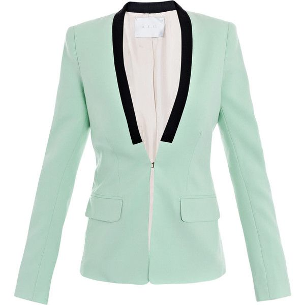 A.L.C. Zoe contrast trim blazer found on Polyvore