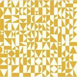 Rio Geo Sun - yellow - Ipanema - Dennis Bennett - Birch Organic Fabrics