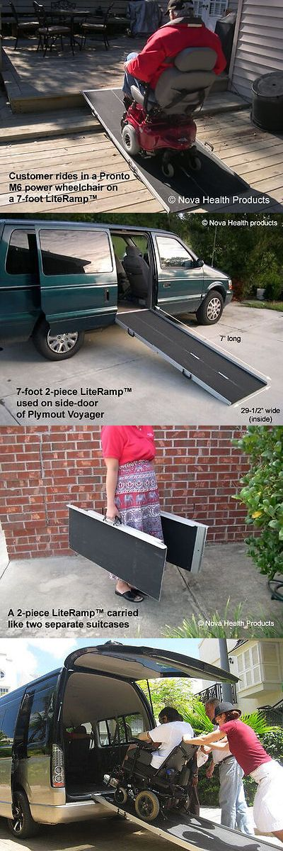 Access Ramps: 7 Wheelchair Ramp | Scooter Ramp | Literamp Portable Handicap Ramps BUY IT NOW ONLY: $229.0