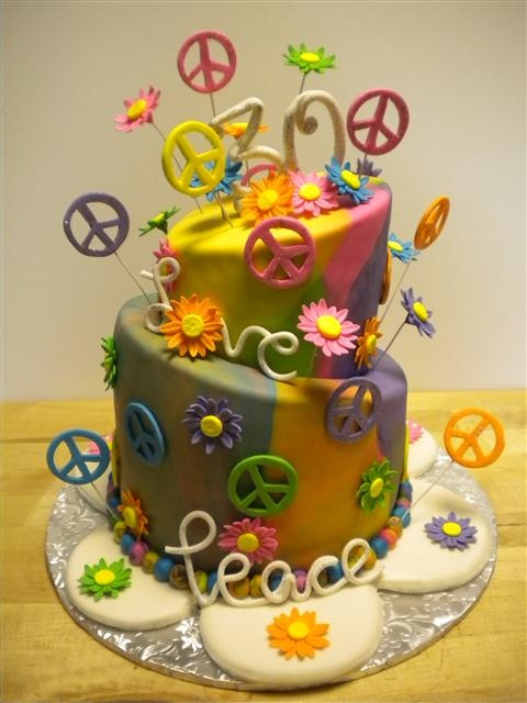 76 Best 1960s Theme Cakes Images On Pinterest Conch Fritters