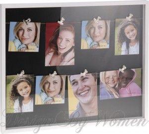 Ramka na zdjęcia z klamerkami / Gablotka ze klipsami