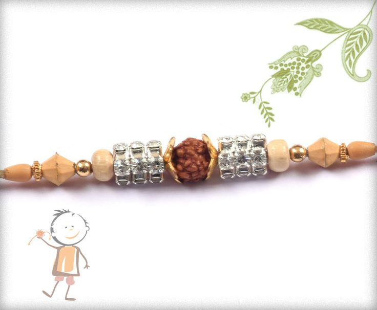 Fancy Rakhi – Send  #Rakhi to #India, #USA, #UK, #Canada, #Australia, #Dubai #NZ #Singapore. Simple Rudraksh Rakhi with Beads, surprise your loved ones with roli chawal, chocolates and a greeting card as it is also a part of our package and that too without any extra charges. http://www.bablarakhi.com/send-fancy-rakhi-online/1026-send-special-rudraksh-rakhi-with-diamond-ring-online.html