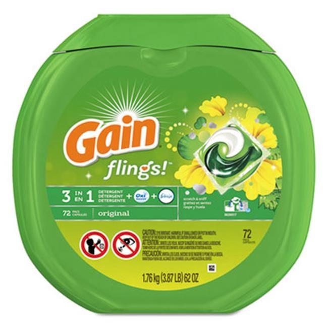 Gain 86792ct Flings Detergent Pods 44 Original Laundry