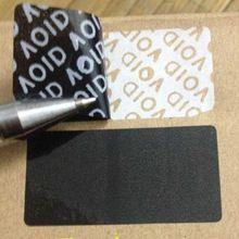Оптовая продажа 40 * 20 мм черный пустые наклейки пломба этикетки - поддельные этикетки 100 шт. бесплатная доставка(China (Mainland))