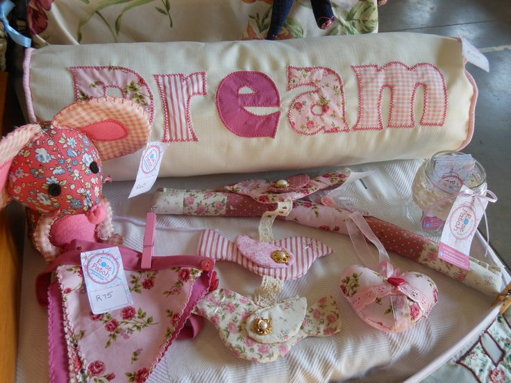 Items created in pinks grouped together.