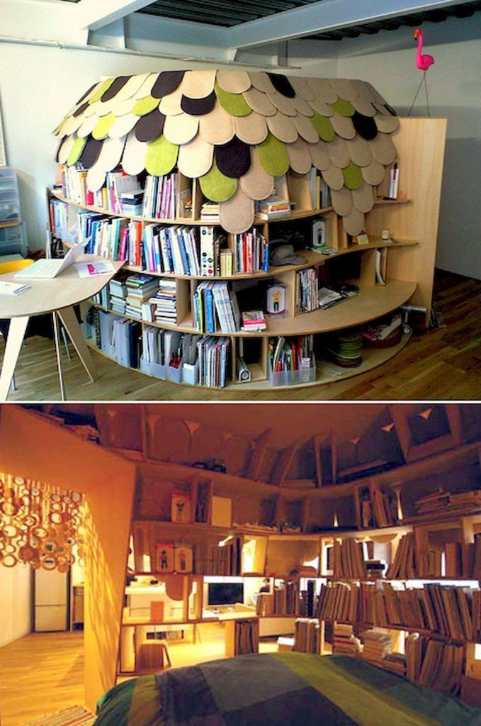 50 Susse Diy Buch Nook Design Ideen Fur Kinder Besthomedecors In Besthomedecors Info Geheime Raume Hausbibliothek Haus Gestalten
