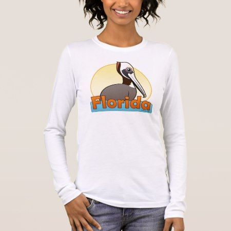 Customizable FL Brown Pelican Long Sleeve T-Shirt - click/tap to personalize and buy