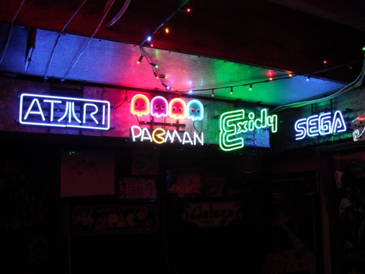 Neon Signs Vidiot Arcade flashbacks Pinterest