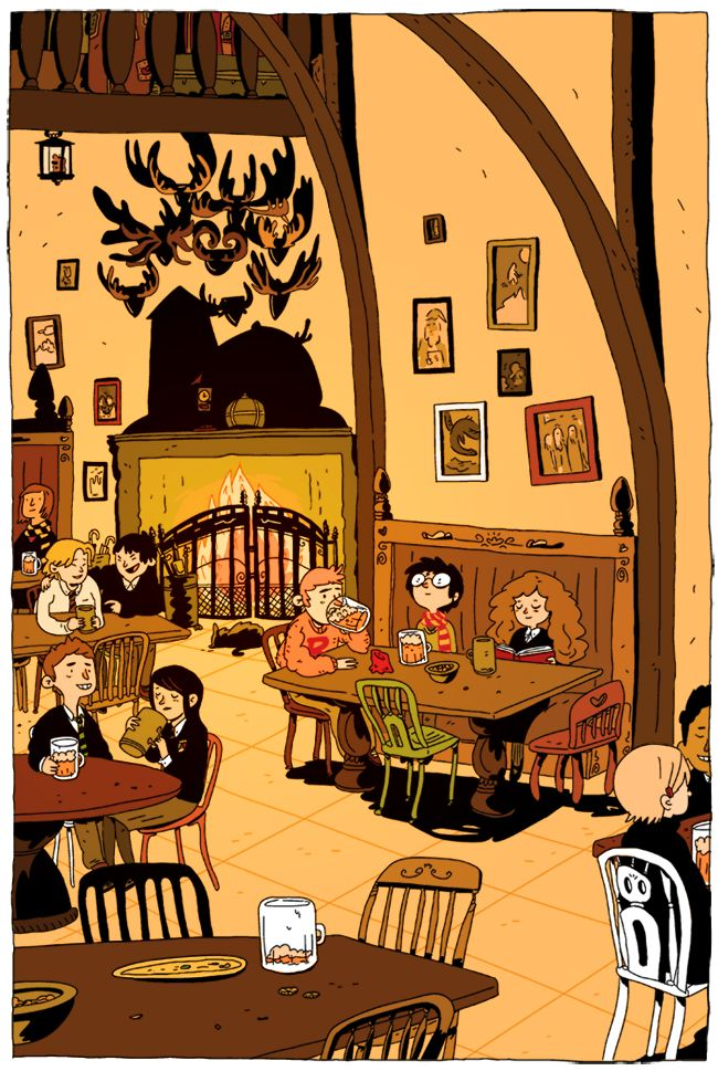 Harry Potter comic illustration by Zac Gorman.
