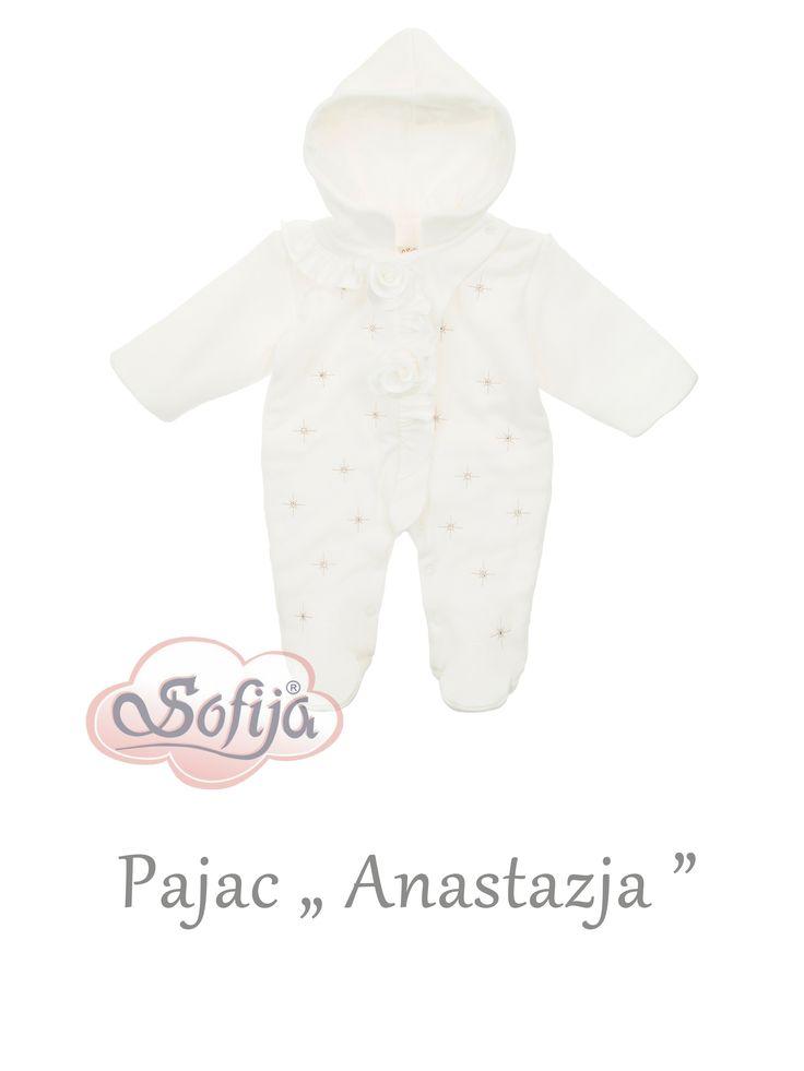 Pajac z kolekcji Anastazja www.sofija.com.pl #sofija #dziecko #ubranka #niemowlęta #kinder #kinderkleidung #baby #children #kids