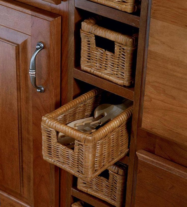 Kitchen Cabinet Baskets: 17 Best Images About Wicker Basket Drawers 101 On