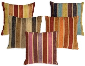 Pillows: 20X20 Throw, Decor Ideas, Color Schemes, Stripes 20X20, Savannah Stripes, Living Room, Throw Pillows, Chenille Throw, 20X20 Chenille