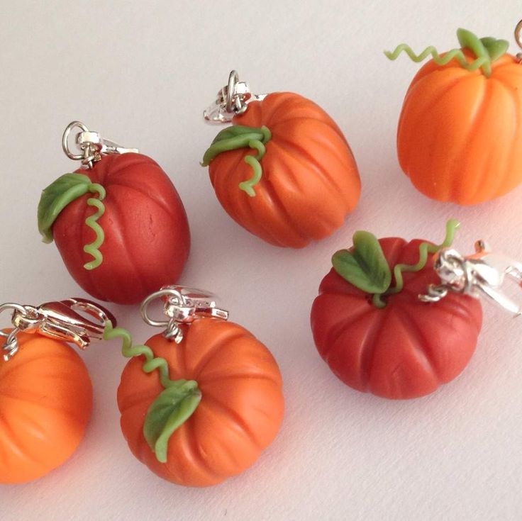 Pumpkins for Fall Polymer clay Charms   Crafty Amino